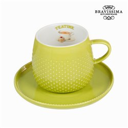 Tazza con piatto verde - Kitchen's Deco Collezione by Bravissima Kitchen