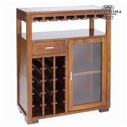 Mobile Portabottiglie Legno di mindi (110 x 90 x 40 cm) - Serious Line Collezione by Bravissima Kitchen