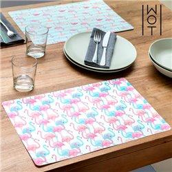 Wagon Trend Flamingos Table Mat