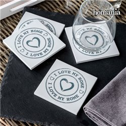 I Love My Home by Homania Coasters (pack of 4)