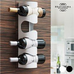 Bravissima Kitchen Metal Wine Holder Black