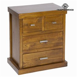 Nightstand Mindi wood (60 x 53 x 35 cm) - Chocolate Collection by Craftenwood