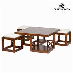 Tavolino da Caffè Legno di mindi (90 x 90 x 45 cm) - Chocolate Collezione by Craftenwood