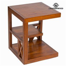 Nightstand Mindi wood (45 x 45 x 55 cm) - Chocolate Collection by Craftenwood
