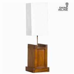 Lámpara de Mesa Madera de mindi (20 x 20 x 40 cm) by Shine Inline