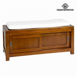 F-177 walnut chest of drawers with cushion - Serious Line Collection by Craftenwood