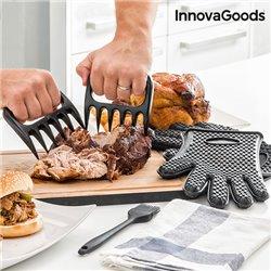InnovaGoods Fleischkrallen mit Handschuhen und Pinsel