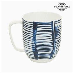 Cup Porzellan Streifen Weiß - Kitchen's Deco Kollektion by Bravissima Kitchen