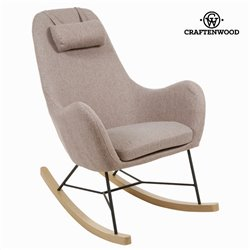 Sedia a Dondolo Craftenwood (70 x 106 x 96 cm) Ecopelle