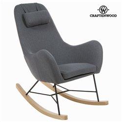 Cadeira de baloiço Tecido Cinzento by Craftenwood