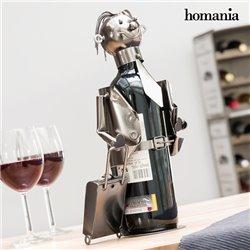 Portabottiglia in Metallo Businessman by Homania