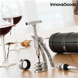 Set di Accessori da Vino con Cavatappi Screwpull InnovaGoods (4 Pezzi)