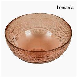 Bol en Verre Recyclé Corail (Ø 18 cm) - Collection Pure Crystal Deco by Homania