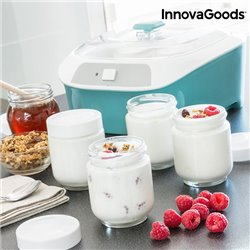 InnovaGoods Vintage Yogurt Maker with 6 Jars 1 L 20W White Turquoise