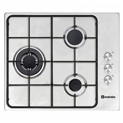 Gas Hob Meireles 60 cm Stainless steel (3 Stoves)