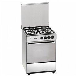 Cocina de Gas Butano Meireles 60 cm 49 L Acero (3 Fogones)