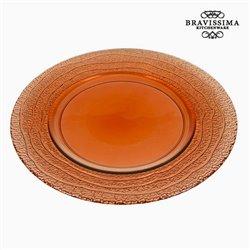 Assiette Plate en Verre Recyclé Corail (32 x 32 x 2 cm) by Bravissima Kitchen