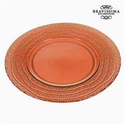 Assiette Plate en Verre Recyclé Corail (28 x 28 x 2 cm) by Bravissima Kitchen