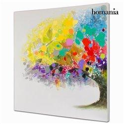 Cuadro óleo árbol colores by Homania