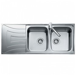 Sink with Two Basins Teka 0011/0085 UNIVERSO 2C 1E Stainless steel