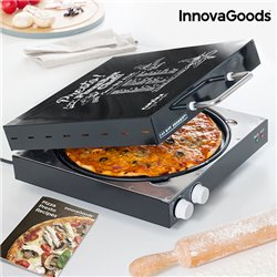 Cuoci Pizza Elettrico con Ricettario Presto! InnovaGoods 1200W Nero