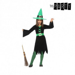 Costume for Children Witch Green (3 Pcs) 7-9 Years