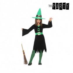 Costume per Bambini Strega Verde (3 Pcs) 10-12 Anni