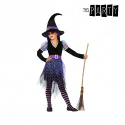 Costume for Children Witch Purple (3 Pcs) 10-12 Years