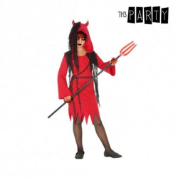 Costume for Children Female demon Red Black (4 Pcs) 3-4 Years
