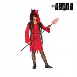 Costume per Bambini Demonio donna Rosso Nero (4 Pcs) 5-6 Anni