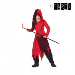 Costume for Children Male demon Red Black (4 Pcs) 3-4 Years