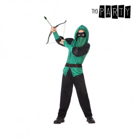 Costume for Children Male archer Green (5 Pcs) 3-4 Years