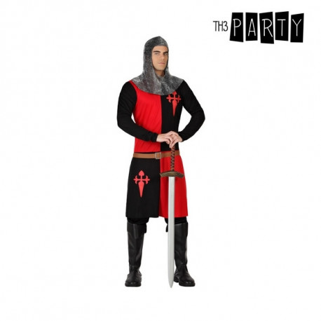 Costume for Adults Knight of the crusades Black Red (2 Pcs) M/L