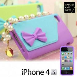 Handtaschenhülle mit Perlenkette für iPhone