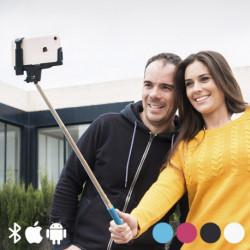 Monopódio para Selfies com Bluetooth Cor de Rosa