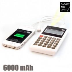 Calculadora Power Bank 6000 mAh Gadget and Gifts