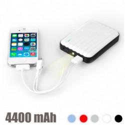 Chargeur de Batterie USB avec LED 4400 mAh Bleu