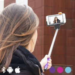 Bastão para Selfies com Bluetooth para Telemóveis Cor de Rosa