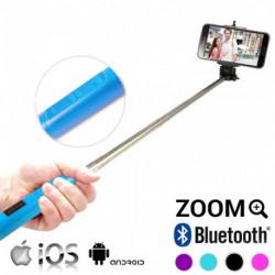 Bastão para Selfies com Bluetooth e Zoom Cor de Rosa