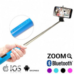 Bluetooth Selfie Stick with Zoom White