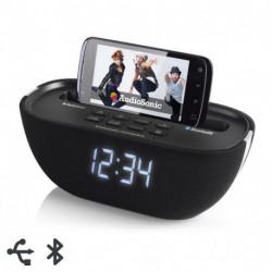 AudioSonic CL-1462 radio Reloj Digital Negro