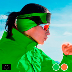 GoFit Bandeau de Sport avec Écouteurs Orange