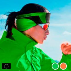 GoFit Fascia Sportiva con Auricolari Arancio