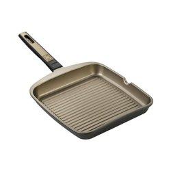 Padella griglia strisce BRA A121413 28 cm Grill Marrone