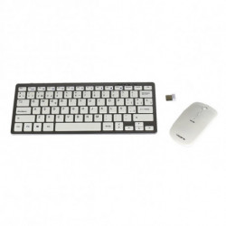 Tacens Levis Combo V2 keyboard RF Wireless Metallic,White