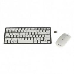 Tacens Levis Combo V2 tastiera RF Wireless Metallico, Bianco