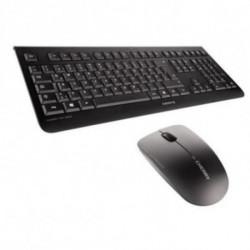 CHERRY DW 3000 teclado RF inalámbrico QWERTY Inglés del Reino Unido Negro