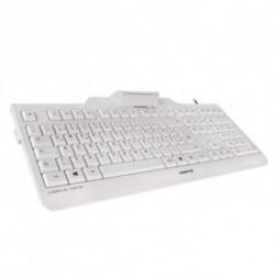 CHERRY KC 1000 SC teclado USB QWERTY Espanhol Cinzento