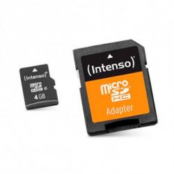 INTENSO Carte Mémoire Micro SD avec Adaptateur 3413450 4 GB Cours 10