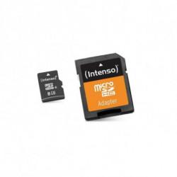 INTENSO Carte Mémoire Micro SD avec Adaptateur 3413460 8 GB Cours 10